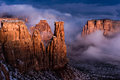 Fog and Light in Monument Canyon print