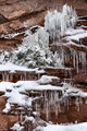 Red Rock, Snow, and Ice print