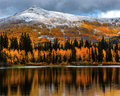 Early Snow and Fall Color at Silver Lake print