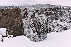 Snowy Black Canyon from Chasm View