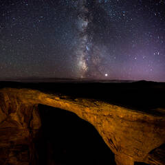 East Rim Arch and the Milky Way
