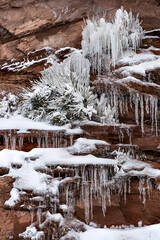 Red Rock, Snow, and Ice