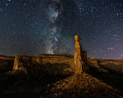 Milky Way over the Monument
