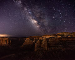 Milky Way over Monument Canyon