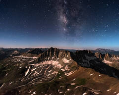 Gilpin Peak by Moonlight and Starlight