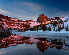 Late Spring Sunset at Lake Blanche