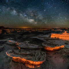 Tabletops under the Milky Way