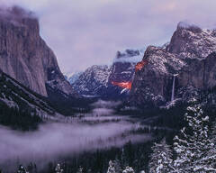 Winter Sunset in the Incomparable Valley