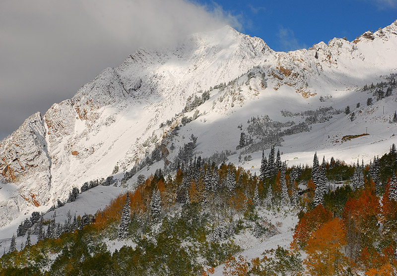 Mount Superior (11,132') sits on the divide between Little Cottonwood and Big Cottonwood canyons just southeast of downtown Salt...