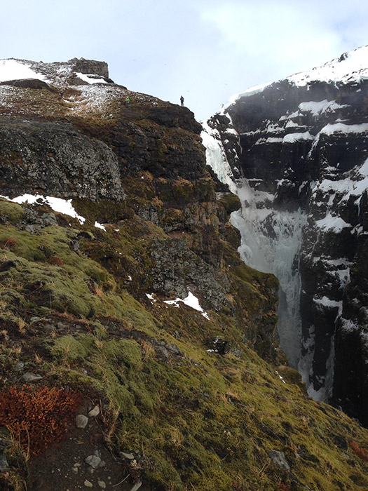 This photo, taken by Jaxon Hoopes, shows part of the scale of Glymur, Iceland's tallest waterfall. Both Crystal and I are...