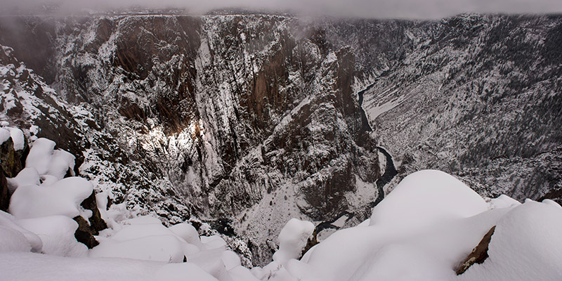 Like much of the west, Black Canyon saw little snow during the first two months of 2015. A strong storm, though, dropped...