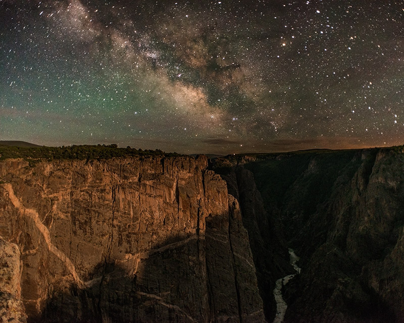The steepness of Black Canyon makes it one of the most challenging places I've photographed at night. A setting moon gave...