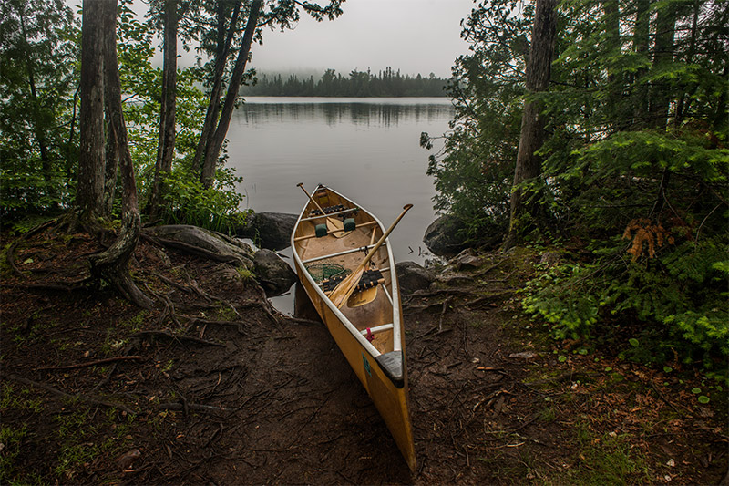 Finding portage paths and campsites in the Boundary Waters most often depends on being able to spot small clearings in a shoreline...