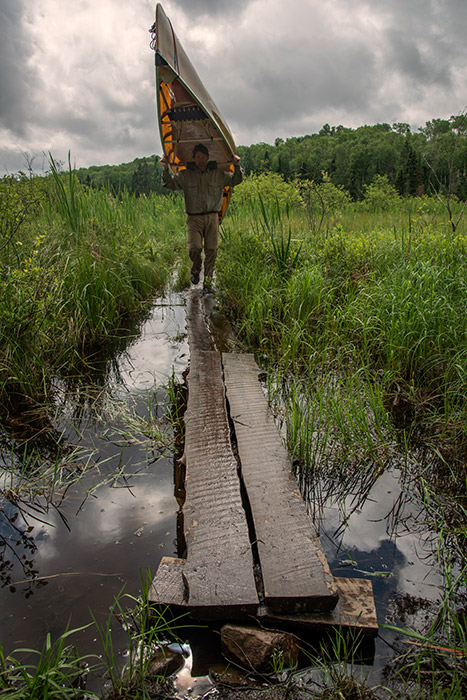This is the less fun part of exploring the Boundary Waters. The lakes are connected by portage trails, and getting from...