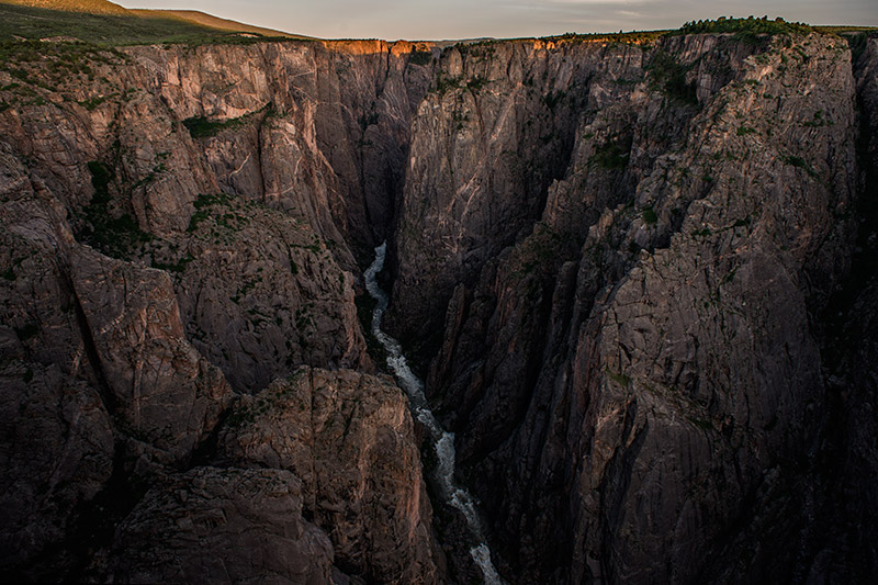 Near Chasm View, seen here from the North Rim, the canyon narrows to its minimum width of 1100 feet from rim to rim but only...