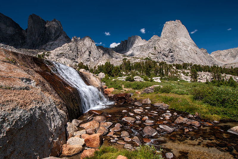 Cirque of the Towers, cascade, waterfall