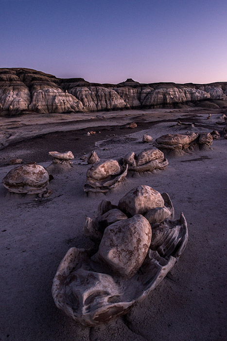 """""""Cracked eggs"""" and """"egg farm"""" are commonly used to describe this collection of rocks in the Bisti Wilderness. To me, this..."""