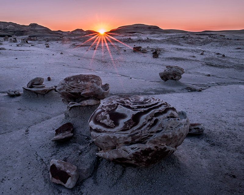 """This formation is one of several known collectively by most as the """"cracked eggs."""" The Bisti/De-Na-Zin Wilderness, though..."""