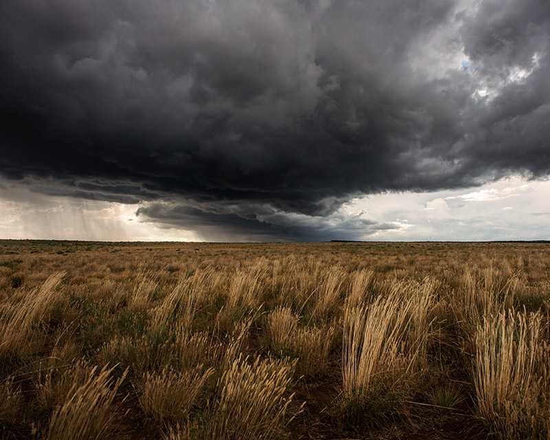 This was the beginning of a storm that dropped enough rain on Glade Park and the Colorado National Monument to create gushing...