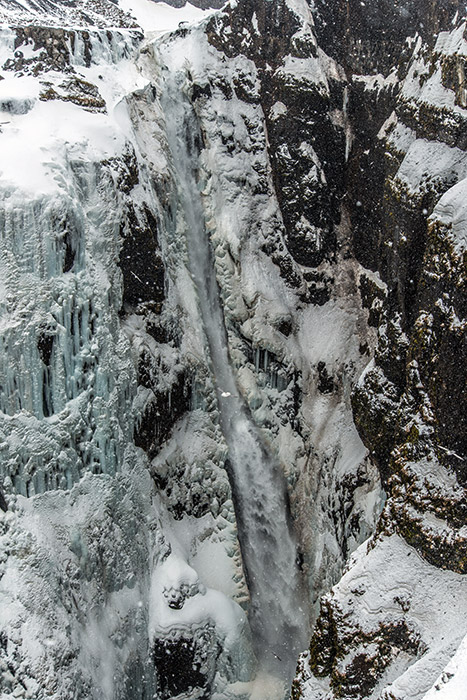 Glymur, the destination of our hike nearHvalfjörður, is thought to be Iceland's tallest waterfall at 198 meters...