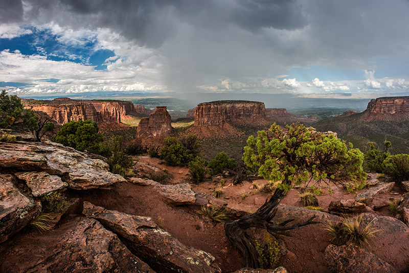 When dark clouds rolled over my home in Glade Park and toward the Colorado National Monument one afternoon in the summer of 2013...