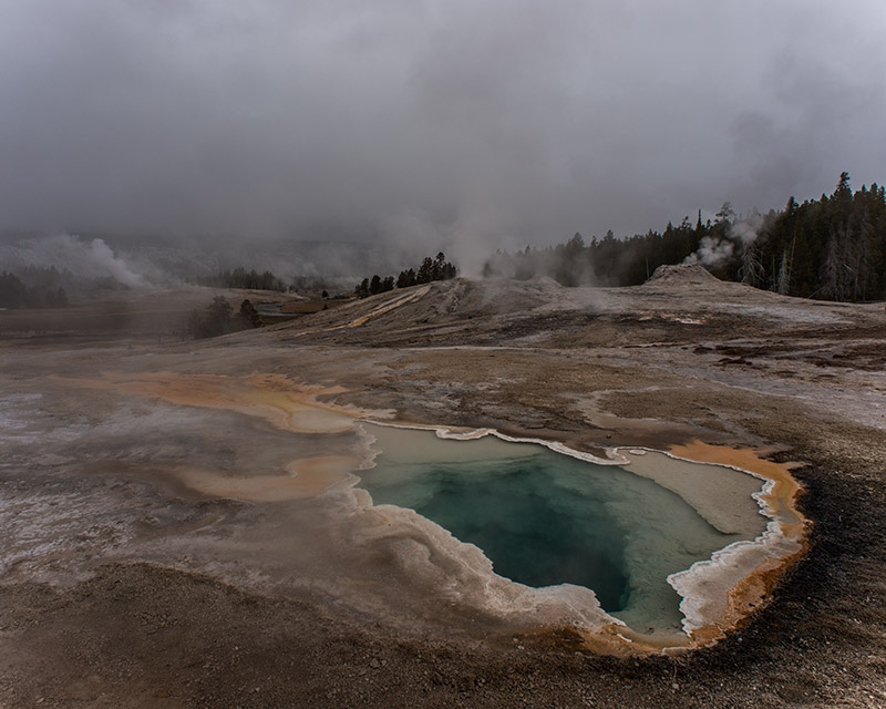 Upper Geyser Basin is most well-known for being the home of Old Faithful, but lots of other thermal features in this basin also...