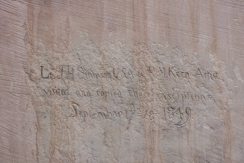This is the first inscription left at El Morro by U.S. citizens.