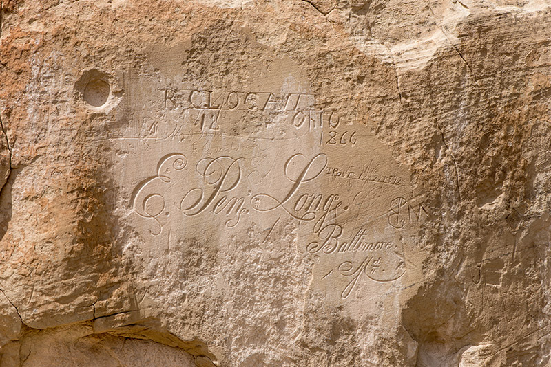 This is perhaps the most elegant script of all the messages carved onto El Morro. I don't think I could do this on paper...