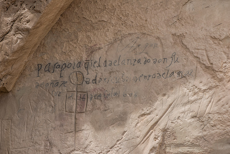 This is the oldest of the European inscriptions at El Morro, made by the first governor of New Mexico, Don Juan de Onate, in...