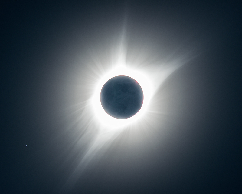 During the 2017 eclipse's totality, while looking up in near disbelief, I was also blazing away with my camera's remote shutter...