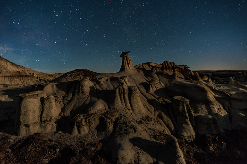 Everything aligned well for a great night of shooting some of the surreal rock formations of the Bisti Wilderness. The...