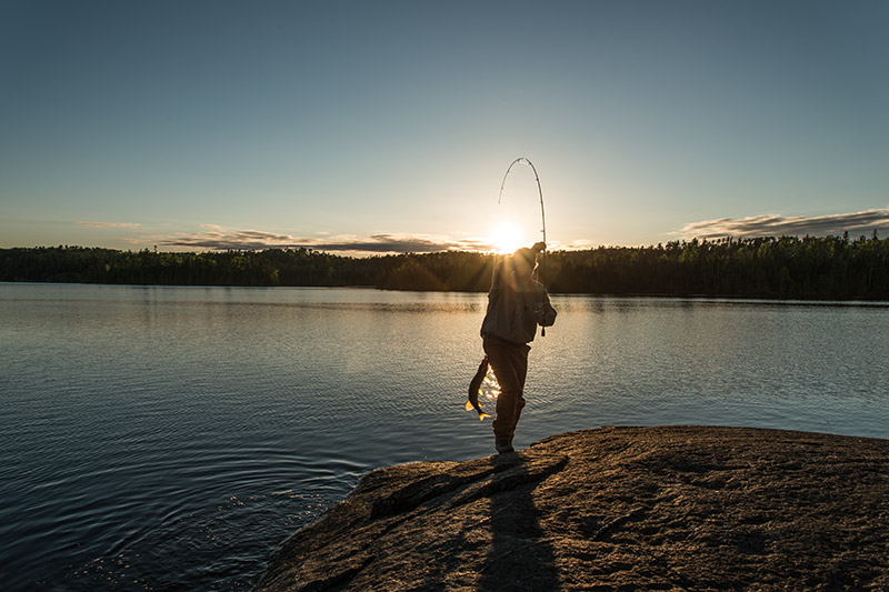 Matt Hanson caught this northern pike just before sunset on our first night in the Boundary Waters. Backcountry fish tacos...