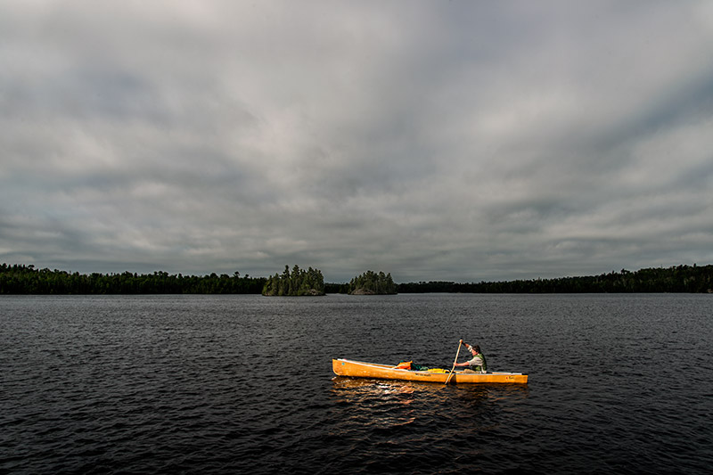 Motorized crafts are allowed on only 20 of the 1000+ lakes in the Boundary Waters. The lack of relative speed in traversing...