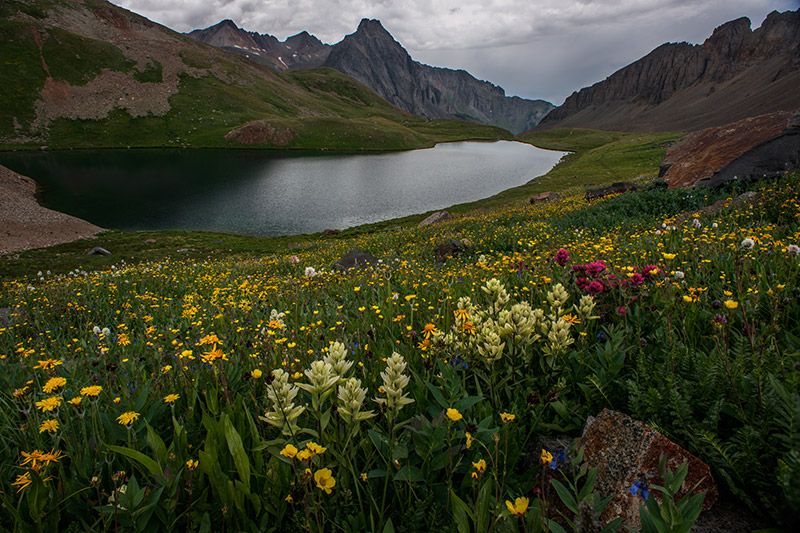The Blue Lakes Trail takes one past three spectacular alpine lakes high in the Mount Sneffels Wilderness near Ridgway, Colorado...