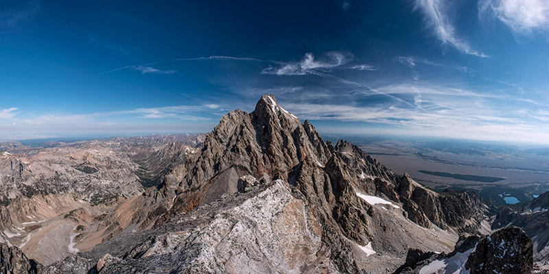 A magnificent view of Grand Teton from the summit of Middle Teton. There are worse ways to spend a September day.