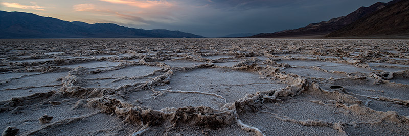 The intense vertical relief in Death Valley is one of its most awe-inspiring attributes. Badwater, at 282 feet below sea...