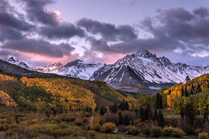 Sunrise at Mount Sneffels, my favorite mountain at my favorite time of day during my favorite season with some clouds and new...