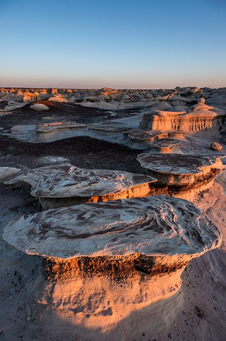 The Bisti Wilderness is filled with lots of fascinating rock formations. Perhaps the single best aspect of the area, though...