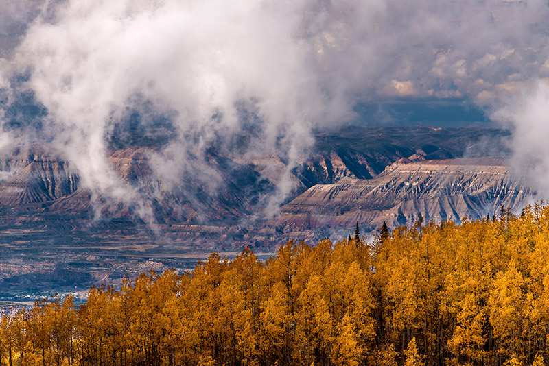 Grand Mesa is known around western Colorado as the world's largest flat-topped mountain, rising to 11,333' from about 4600' in...