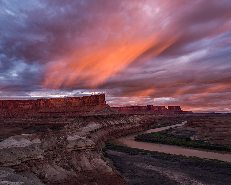 This sunset I caught on my first night of a 57-mile float on the Green River through Canyonlands National Park marked the (temporary...