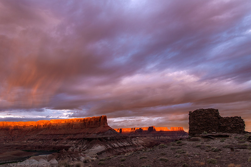 On the first night of a 5-day solo float down the Green River through Canyonlands National Park, I caught this sunset at Fort...