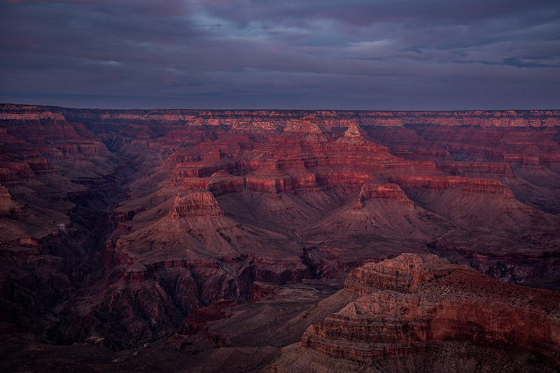 Just after sunset on a recent November night, some reflected light made for some great color and contrast in the canyon.&nbsp...