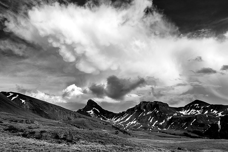 These aren't usually the kinds of clouds one likes to see when spending time in the backcountry at or above treeline. Fortunately...